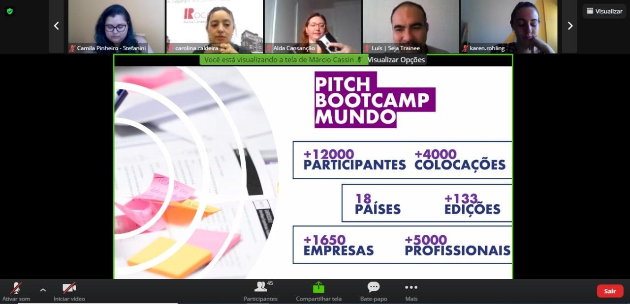 A Seja Trainee estava presente na primeira edição do Pitch Bootcamp de 2021 ocorreu de forma online.